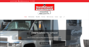 ShareMyCoach Franchise Website